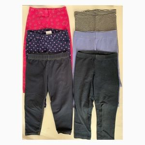 Other - Lot of 6 Girl's Pant Leggings - Size 2T